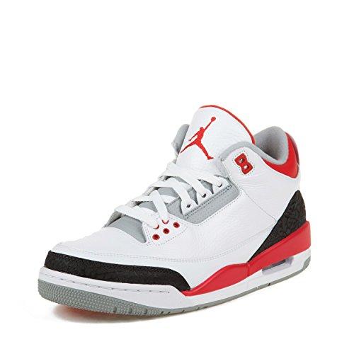 a6e38e74817 Nike Air Jordan III 3 Retro Men Basketball Shoes White Black Red Special
